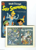 Original Comic Art:Miscellaneous, Western Publishing Artist - Dell Giant Comics Silly Symphonies #5Preliminary Cover Original Art (Dell, 1955). Packed into a... (2items)