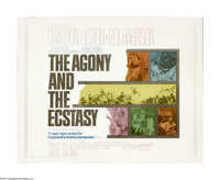 "The Agony and the Ecstasy (20th Century Fox, 1965). Half Sheet (22"" X 28""). The war of wills between Michaelan..."