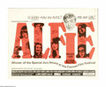 "Movie Posters:Comedy, Alfie (Paramount, 1966). Half Sheet (22"" X 28""). ""I don't want no bird's respect -- I wouldn't know what to do with it."" Cha..."