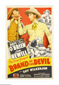 """Brand of the Devil (PRC, 1944). One Sheet (27"""" X 41""""). This is a beautiful stone-litho one sheet for this PRC..."""