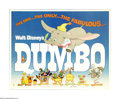 "Movie Posters:Animated, Dumbo (RKO, R-1976). Half Sheet (22"" X 28""). ""Dumbo! The ninth wonder of the univoise! The world's only flyin' elephant!"" Ti..."