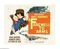"A Farewell to Arms (20th Century Fox, R-1963). Half Sheet (22"" X 28""). David O. Selznick produced this adaptat..."