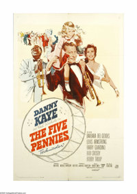 "The Five Pennies (Paramount, 1959). One Sheet (27"" X 41""). Danny Kaye portrays famed band leader ""Red&quo..."