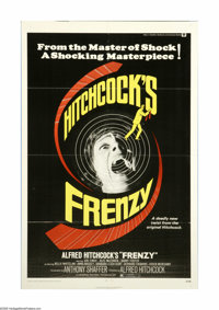 "Frenzy (Universal, 1972). One Sheet (27"" X 41""). Alfred Hitchcock's murder mystery about the wrong man arreste..."
