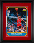 Basketball Collectibles:Others, 2000's Michael Jordan Signed Oversized Photograph of 1986-87 Fleer Rookie Card.. ...