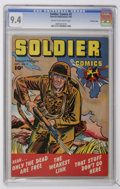 Golden Age (1938-1955):War, Soldier Comics #5 Crowley Copy pedigree (Fawcett, 1952) CGC NM 9.4Cream to off-white pages....