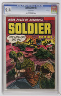 Golden Age (1938-1955):War, Soldier Comics #9 Crowley Copy pedigree (Fawcett, 1953) CGC NM 9.4 Off-white pages....