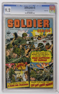 Golden Age (1938-1955):War, Soldier Comics #4 Crowley Copy pedigree (Fawcett, 1952) CGC NM- 9.2Cream to off-white pages....