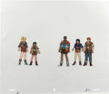 """Animation Art:Production Cel, """"Captain Planet and the Planeteers"""" - The Planeteers AnimationProduction Cel and Clean-Up Drawing Original Art, Group of 2 (T...(Total: 2)"""
