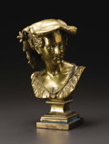 Decorative Arts, French:Other , A Bronze Figure of The Rieuse Napolitaine. . Jean BaptisteCarpeaux, France. Undated. Bronze with gold patina. Marks...