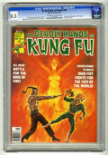 Magazines:Miscellaneous, The Deadly Hands of Kung Fu #24 (Marvel, 1976) CGC VF+ 8.5Off-white to white pages. Iron Fist cover painting by BobLarkin....