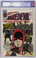 Silver Age (1956-1969):Superhero, Daredevil #9 (Marvel, 1965) CGC NM 9.4 Off-white to white pages. ...