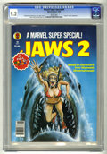 "Magazines:Miscellaneous, Marvel Comics Super Special #6 (Marvel, 1978) CGC NM- 9.2 Whitepages. ""Jaws II"" movie adaptation. Bob Larkin cover. Gene Co..."