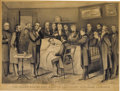 """Political:Memorial (1800-present), 1865 Currier & Ives Engraving """"The Death Bed of the Martyr President Abraham Lincoln. 16.5"""" x 12.5"""", framed and matted under..."""