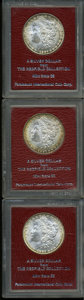 Additional Certified Coins: , 1897 $1 Morgan Dollar MS65 Paramount International (MS63), golden-brown and sea-green periphe... (Total: 3 coins)