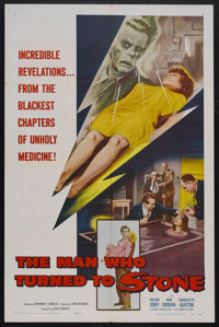 "The Man Who Turned to Stone (Columbia, 1957). One Sheet (27"" X 41""). Horror. Starring Victor Jory, Ann Doran..."