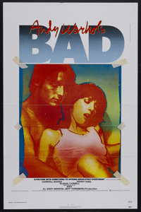 "Andy Warhol's Bad (New World Pictures, 1977). One Sheet (27"" X 41""). Comedy. Starring Carroll Baker, Perry Kin..."