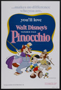 """Movie Posters:Animated, Pinocchio (Buena Vista, R-1978). One Sheet (27"""" X 41"""") Tri-Folded. Family. Starring the voices of Dick Jones, Cliff Edwards..."""