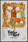 "Movie Posters:Musical, Fiddler on the Roof (United Artists, 1972). One Sheet (27"" X 41"") Tri-Folded. Musical. Directed by Norman Jewison. Starring ..."