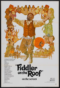 """Fiddler on the Roof (United Artists, 1972). One Sheet (27"""" X 41"""") Tri-Folded. Musical. Directed by Norman Jewi..."""