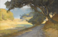 Fine Art - Painting, American:Modern  (1900 1949)  , ALBERT SHELDON PENNOYER (American 1888-1957). Shaded Path.Pastel on paper. 13-1/4 x 20-3/4 inches (33.7 x 52.7 cm). Sig...
