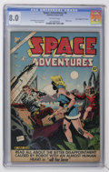 """Golden Age (1938-1955):Science Fiction, Space Adventures #8 Davis Crippen (""""D"""" Copy) pedigree (Charlton,1953) CGC VF 8.0 Off-white pages...."""