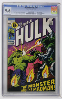 The Incredible Hulk #144 (Marvel, 1971) CGC NM+ 9.6 Off-white pages