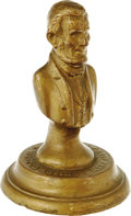 Political:3D & Other Display (pre-1896), Abraham Lincoln 1909 Souvenir Bust from the Winsted Business Mens Association and dated for the centennial of Lincoln's birt...