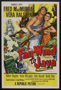 "Movie Posters:Adventure, Fair Wind to Java (Republic, 1953). One Sheet (27"" X 41"").Adventure. Starring Fred MacMurray, Vera Ralston, RobertDouglas,..."