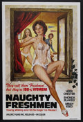 "Movie Posters:Adult, Naughty Freshmen (SRC Films, 1970). One Sheet (27"" X 41""). Adult. Starring Heidi Chester, Rhonda Blakely and Mindy Reed. Ver..."