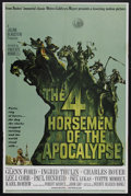 "Movie Posters:War, The Four Horsemen of the Apocalypse (MGM, 1961). One Sheet (27"" X41"") Style B. War. Starring Glenn Ford, Ingrid Thulin, Cha..."