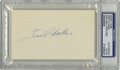 Autographs:Index Cards, Fred Clarke Signed Index Card, PSA Authentic. Early baseball Hallof Famer was amazing both on the playing field as well as...