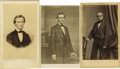 Photography:CDVs, Abraham Lincoln: Two Attractive Cartes de Visite, plus one of his first Vice President, Hannibal Hamlin. The first is a ... (Total: 3 )