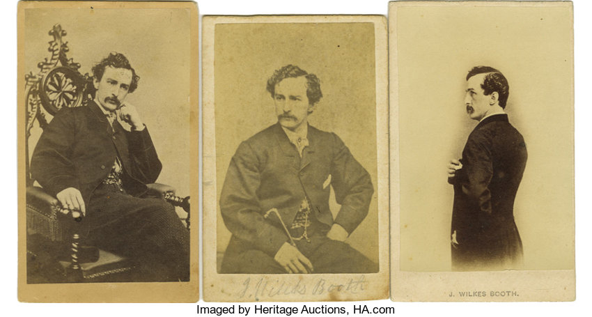 PhotographyCDVs John Wilkes Booth An Outstanding Collection Of Ten Cartes DeVisite