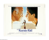 "The Karate Kid (Columbia, 1984). Half Sheet (22"" X 28""). Daniel LaRusso (Ralph Macchio) is the new kid in town..."