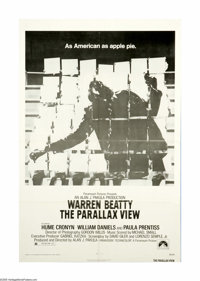 """The Parallax View (Paramount, 1974). One Sheet (27"""" X 41""""). A U.S. Senator is murdered at the Seattle Space Ne..."""