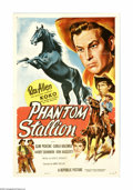 "Movie Posters:Western, Phantom Stallion (Republic, 1954). One Sheet (27"" X 41""). Army pals Rex Allen and Slim Pickens combine forces to solve the m..."