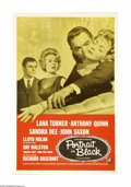 "Movie Posters:Drama, Portrait in Black (Universal, 1960). One Sheet (27"" X 41""). Sheila Cabot (Lana Turner) wants her rich, cruel husband (Lloyd ..."
