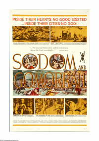 "Sodom and Gomorrah (20th Century Fox, 1963). One Sheet (27"" X 41""). The original sin cities Sodom and Gomorrah..."