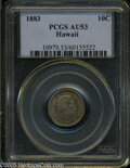 Coins of Hawaii: , 1883 10C Hawaii Ten Cents AU53 PCGS. ...
