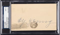 Baseball Collectibles:Others, 1953 Cy Young Signed Government Postcard, PSA/DNA Mint 9.. ...