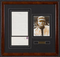 Baseball Collectibles:Others, 1942 Walter Johnson Handwritten Signed Letter. . ...