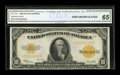 Large Size:Gold Certificates, Fr. 1173 $10 1922 Gold Certificate CGA Gem Uncirculated 65....