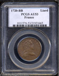 1720-BB MS French Liard AU53 PCGS. This French copper issue may have circulated in the Louisiana or Canadian French colo...