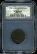 1797 1/2 C 1 Above 1 VF Details, Corroded, NCS. Plain Edge. B-1, C-1, R.2. A legible but porous example with deep sea-gr...