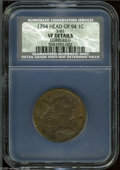 1794 1C Head of 1794 VF Details, Corroded, NCS. S-61, R.4. Glossy from a moderate cleaning, this medium olive-brown piec...