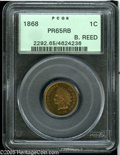 Proof Indian Cents: , 1868 1C PR65 Red and Brown PCGS. Golden-brown patination takes on deeper shades on the reverse. Sharply struck, with no sig...