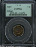 Proof Indian Cents: , 1909 1C PR65 Red and Brown PCGS. The reflective fields reveal variegated violet, gold, and lime-green colors when the coin ...