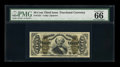 Fractional Currency:Third Issue, Fr. 1331 50c Third Issue Spinner PMG Gem Uncirculated 66 EPQ....