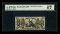 Fractional Currency:Third Issue, Fr. 1370 50c Third Issue Justice PMG Superb Gem Unc 67 EPQ....